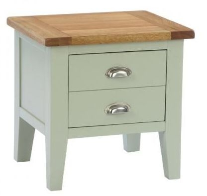 Vancouver Expressions 1 Drawer Lamp Table - Oak and Grey