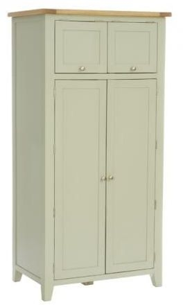 Vancouver Expressions 2 Door 2 Drawer Wardrobe - Oak and Grey