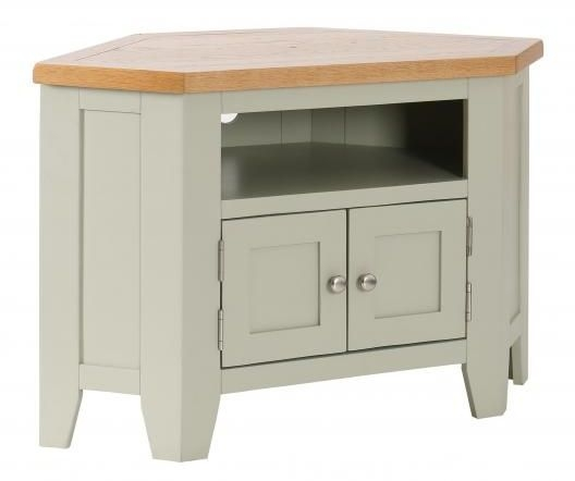 Vancouver Expressions 2 Door Corner TV Unit - Oak and Grey