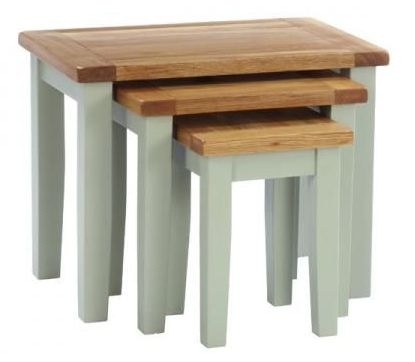 Vancouver Expressions Nest of 3 Tables - Oak and Grey