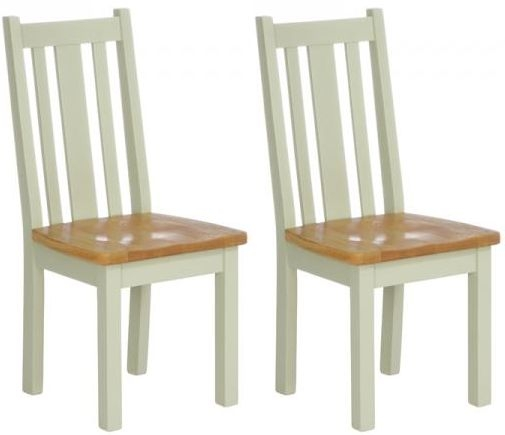 Vancouver Expressions Vertical Slats Dining Chair with Timber Seat (Pair)