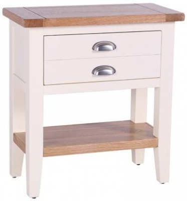 Vancouver Expressions Linen Console Table - 1 Drawer