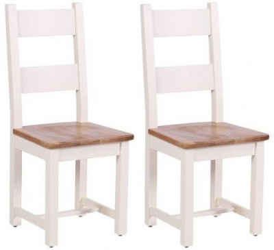 Vancouver Expressions Linen Dining Chair (Pair) - Timber Seat with Horizontal Slats