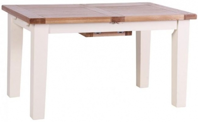 Vancouver Expressions Linen Rectangular Extending Dining Table - 140cm-180cm