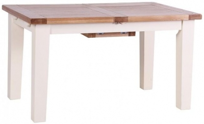Vancouver Expressions Linen Dining Table - Extending 180cm-230cm
