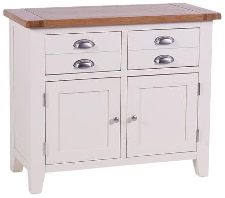 Vancouver Expressions Linen 2 Door 2 Drawer Small Narrow Sideboard