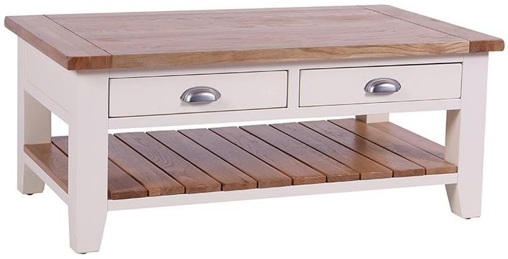 Vancouver Expressions Linen 2 Drawer Storage Coffee Table