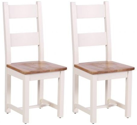 Vancouver Expressions Linen Horizontal Slats Dining Chair with Timber Seat (Pair)