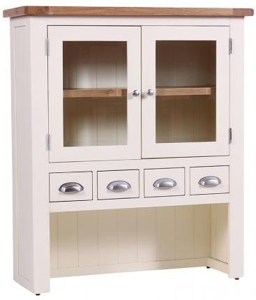 Vancouver Expressions Linen Hutch - 4 Drawer 2 Door