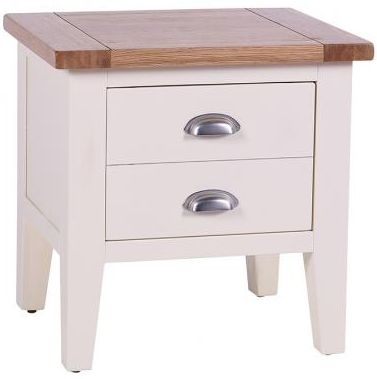 Vancouver Expressions Linen Lamp Table - 1 Drawer