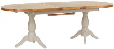 Vancouver Expressions Potters Wheel Dining Table - Twin Pedestal Extension 190cm-240cm