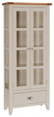 Vancouver Expressions Potters Wheel Glazed Display Cabinet - 1 Drawer 2 Door
