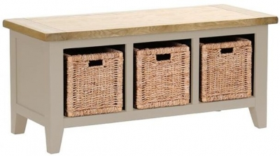 Vancouver Expressions Potters Wheel Storage Bench - 3 Basket Drawers