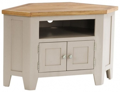 Vancouver Expressions Potters Wheel TV Unit - 90 Degree Corner with 2 Door and 2 Shelves
