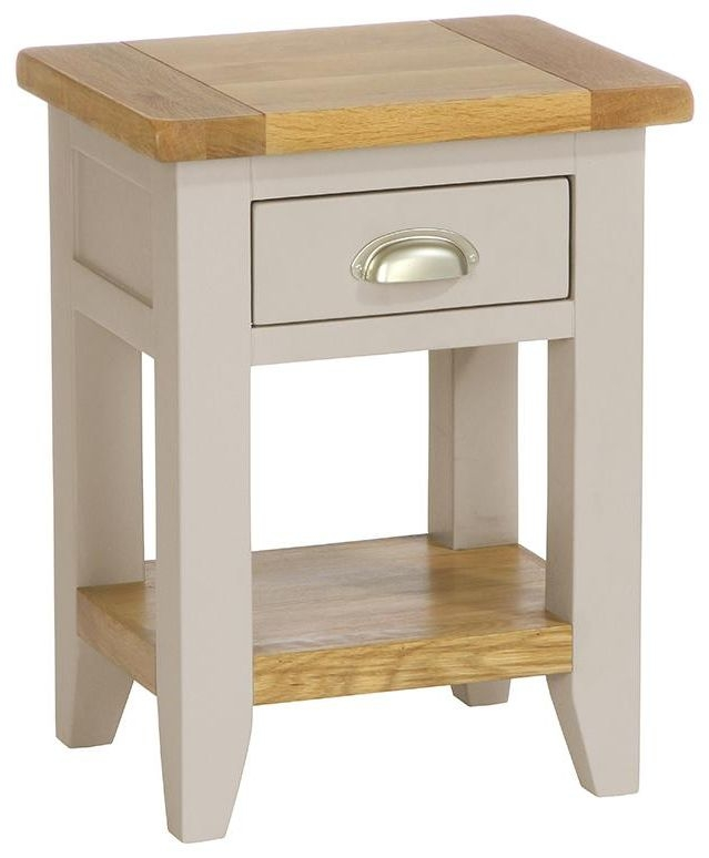 Vancouver Expressions Potters Wheel Bedside Table - 1 Drawer 1 Shelf