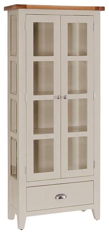Vancouver Expressions Potters Wheel 2 Door 1 Drawer Glazed Display Cabinet