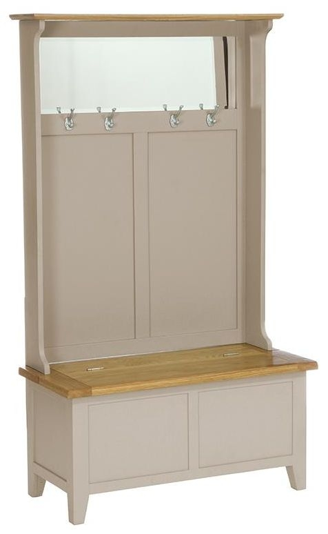 Vancouver Expressions Potters Wheel Hall Tidy Storage Bench with Coat Rack and Mirror