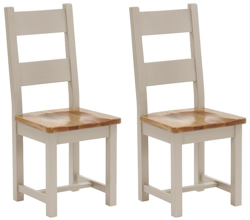 Vancouver Expressions Potters Wheel Dining Chair (Pair) - Timber Seat with Horizontal Slats