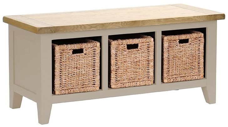 Vancouver Expressions Potters Wheel Storage Bench - 3 Basket Drawer