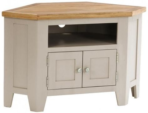 Vancouver Expressions Potters Wheel TV Unit - 90 Degree Corner with 2 Doors and 2 Shelves