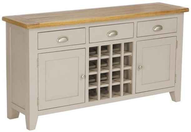 Vancouver Expressions Potters Wheel Wine Table - 3 Drawer 2 Door