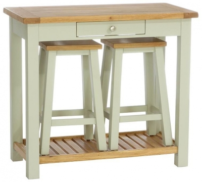 Vancouver Petite Expression Breakfast Bar with 2 Stools and 1 Drawer