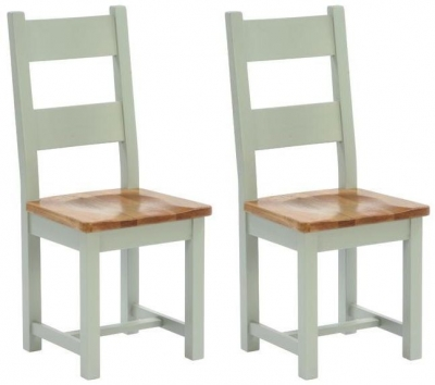 Vancouver Petite Expression Horizontal Slats Dining Chair - with Timber Seat (Pair)