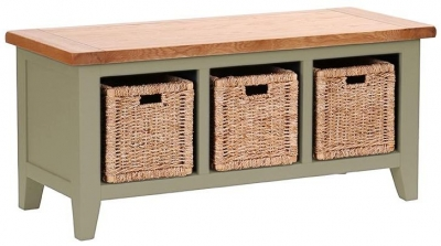 Vancouver Petite Expression Storage Bench with 3 Basket Drawer