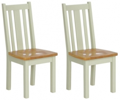 Vancouver Petite Expression Vertical Slats Dining Chair with Timber Seat (Pair)