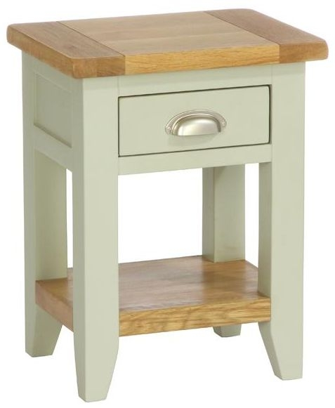 Vancouver Petite Expression Bedside Table - 1 Drawer 1 Shelf
