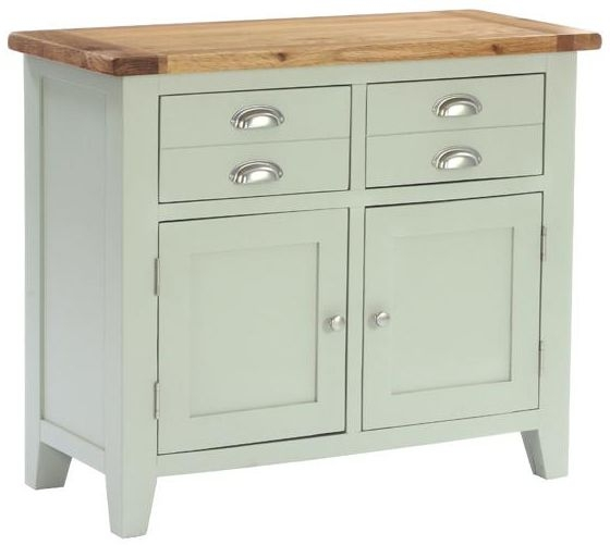 Vancouver Petite Expression Sideboard - Small Narrow 2 Door 2 Drawer
