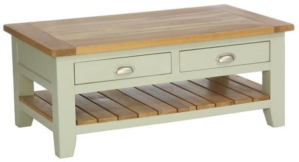 Vancouver Petite Expression Coffee Table - Rectangular with 2 Drawer and 1 Shelf
