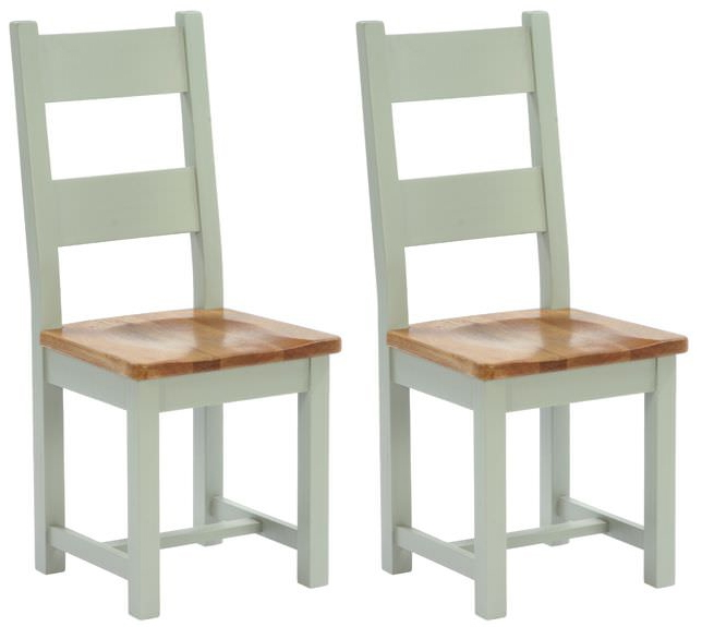 Vancouver Petite Expression Dining Chair - Timber Seat with Horizontal Slats (Pair)