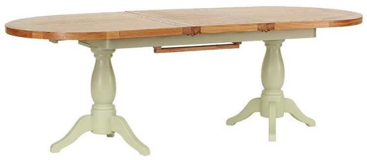 Vancouver Petite Expression Round Extending Twin Pedestal Dining Table - 190cm-240cm