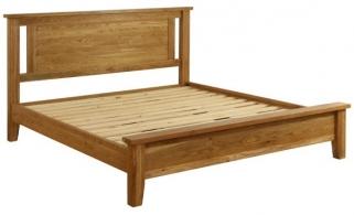 Vancouver Petite Oak Bed - Low Foot End