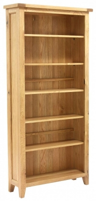 Vancouver Petite Oak Bookcase - Tall with Adjustable Shelves