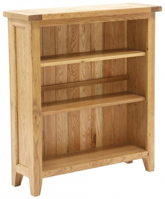 Vancouver Petite Oak Bookcase with 2 Adjustable Shelves