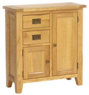 Vancouver Petite Oak Buffet Chest - 2 Drawer 2 Door