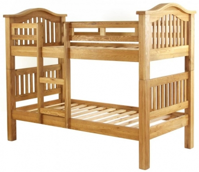Vancouver Petite Oak 3ft Single Bunk Bed
