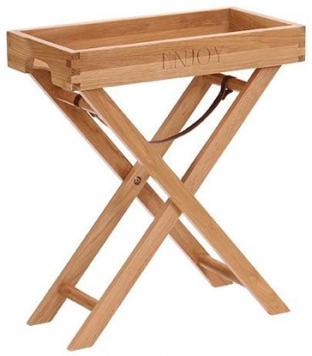 Vancouver Petite Oak Medium Butler Tray with Stand