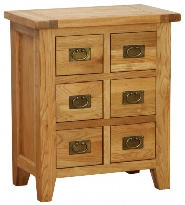 Vancouver Petite Oak Cabinet - 6 Drawer