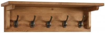 Vancouver Petite Oak 5 Hooks Coat Rack