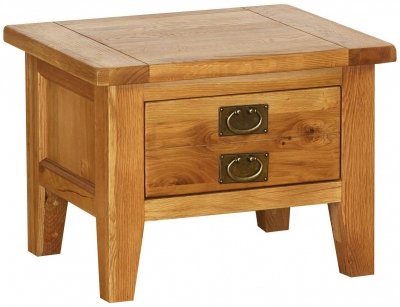 Vancouver Petite Oak 1 Drawer Storage Small Coffee Table