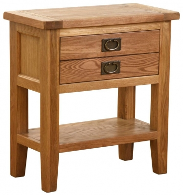 Vancouver Petite Oak 1 Drawer Small Console Table