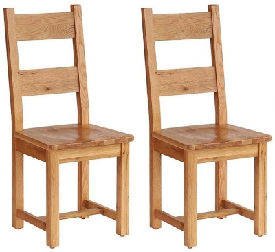 Vancouver Petite Oak Dining Chair with Timber Seat (Pair)