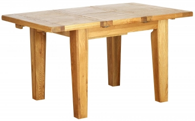 Vancouver Petite Oak Rectangular Extending Dining Table - 100cm-140cm