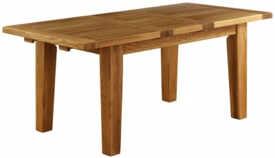 Vancouver Petite Oak Rectangular Extending Dining Table - 140cm-180cm