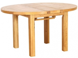 Vancouver Petite Oak Dining Table - Extending Round 1100 - 1400mm