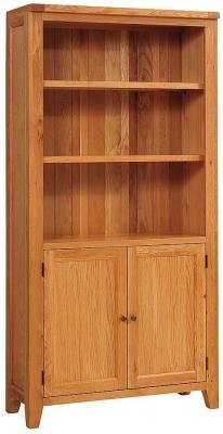 Vancouver Petite Oak Display Cabinet - 2 Doors 2 Shelves
