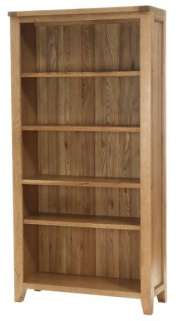 Vancouver Petite Oak Display Cabinet - 4 Shelves